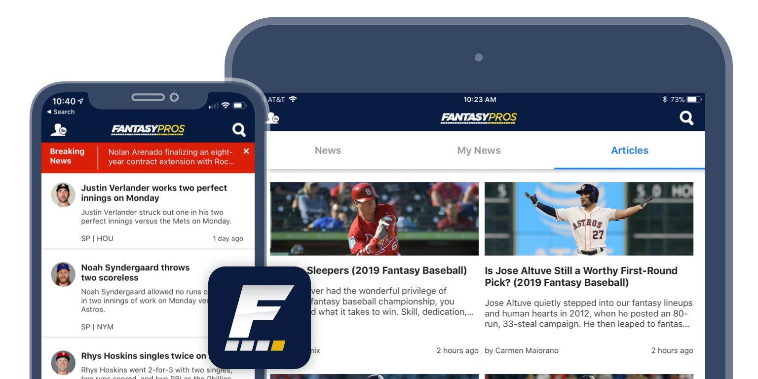 [2/27/2019] Fantasy News & Alerts iOS App Update: iPad Support and More