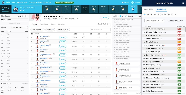 3/7/2019] Chrome Extension: ESPN Draft Assistant Update