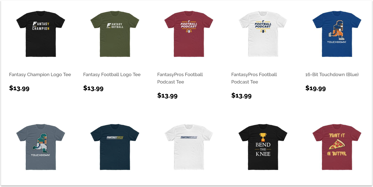 [6/13/2019] FantasyPros Store is Now Open for Business