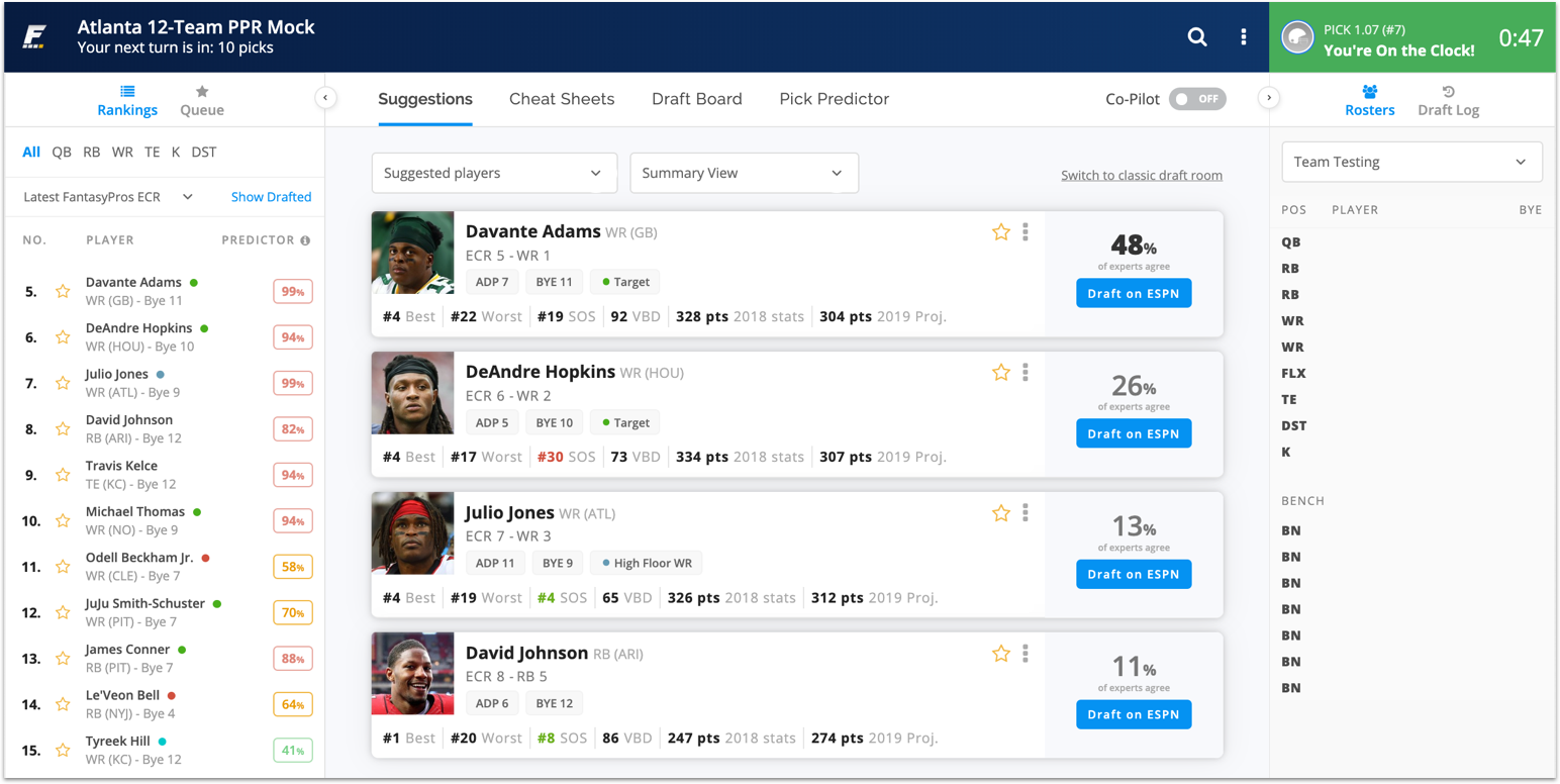 [8/17/2019] Draft Assistant Updated With New Design for 2019