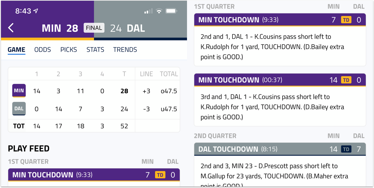 [10/31/2019] BettingPros Mobile Apps: Live Scoring for NFL Games, News Updates, and More