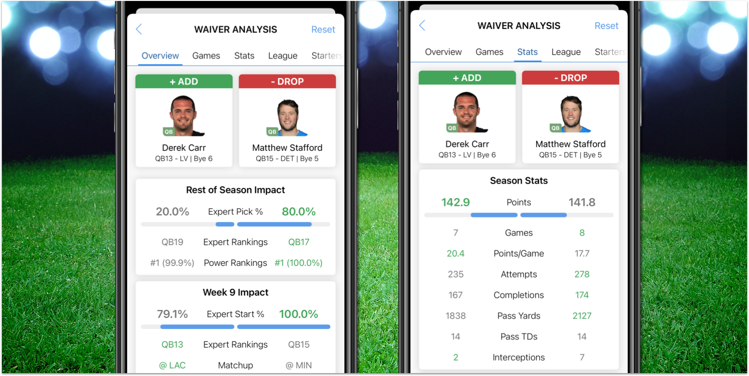 [11/09/2020] My Playbook Mobile: Waiver Assistant 2.0